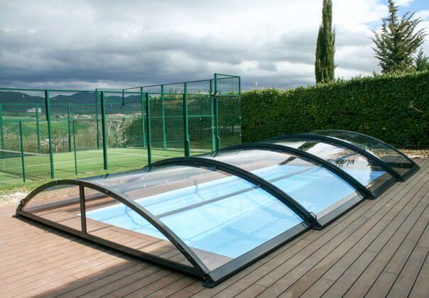 Cubiertas para piscinas cerramientos para piscinas tecnyvan - Techo piscina cubierta ...