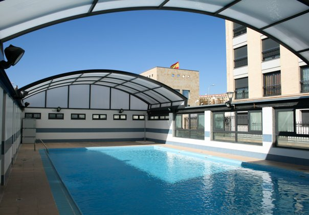 techo piscina movil