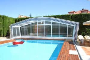 Cubierta de piscina telescópica Olimpo