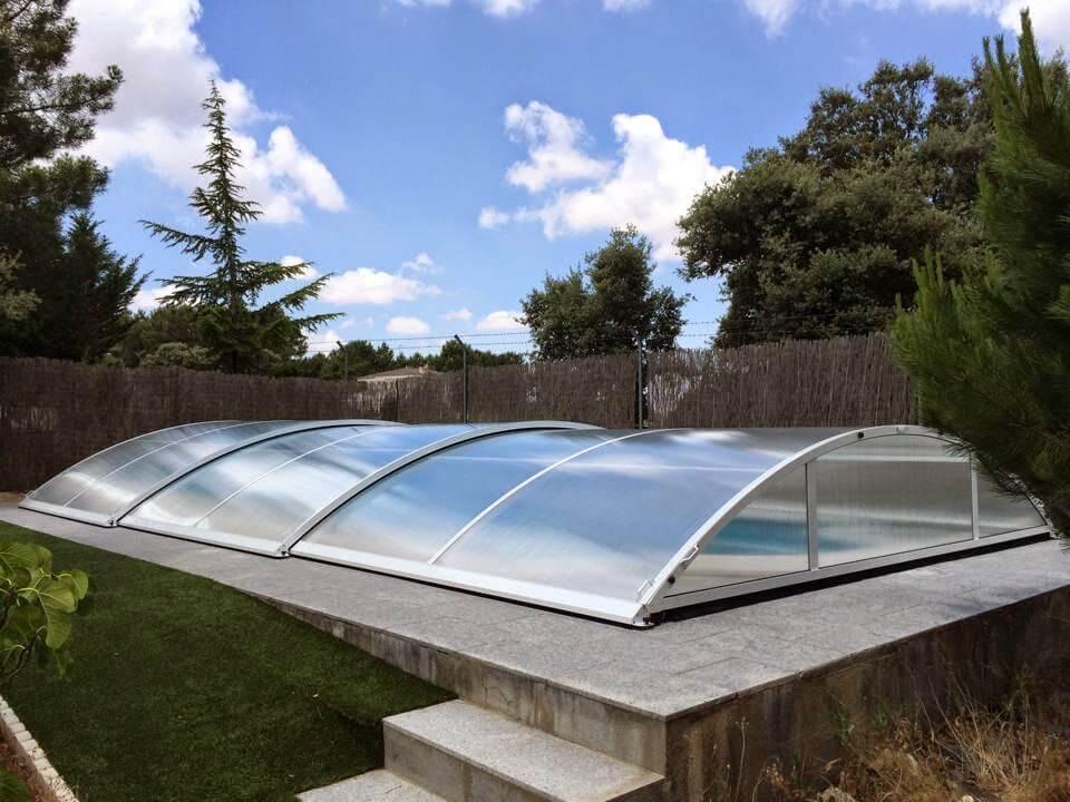 Instalación de una cubierta para piscinas Alba de Tormes
