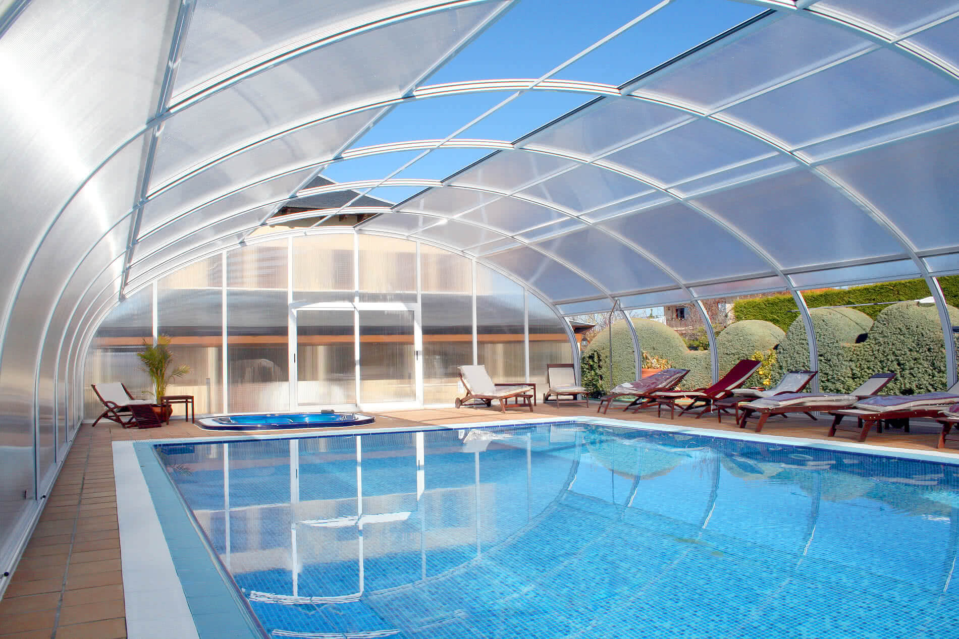 Etna cubierta fija para piscinas tecnyvan fabricantes for Fabricantes piscinas