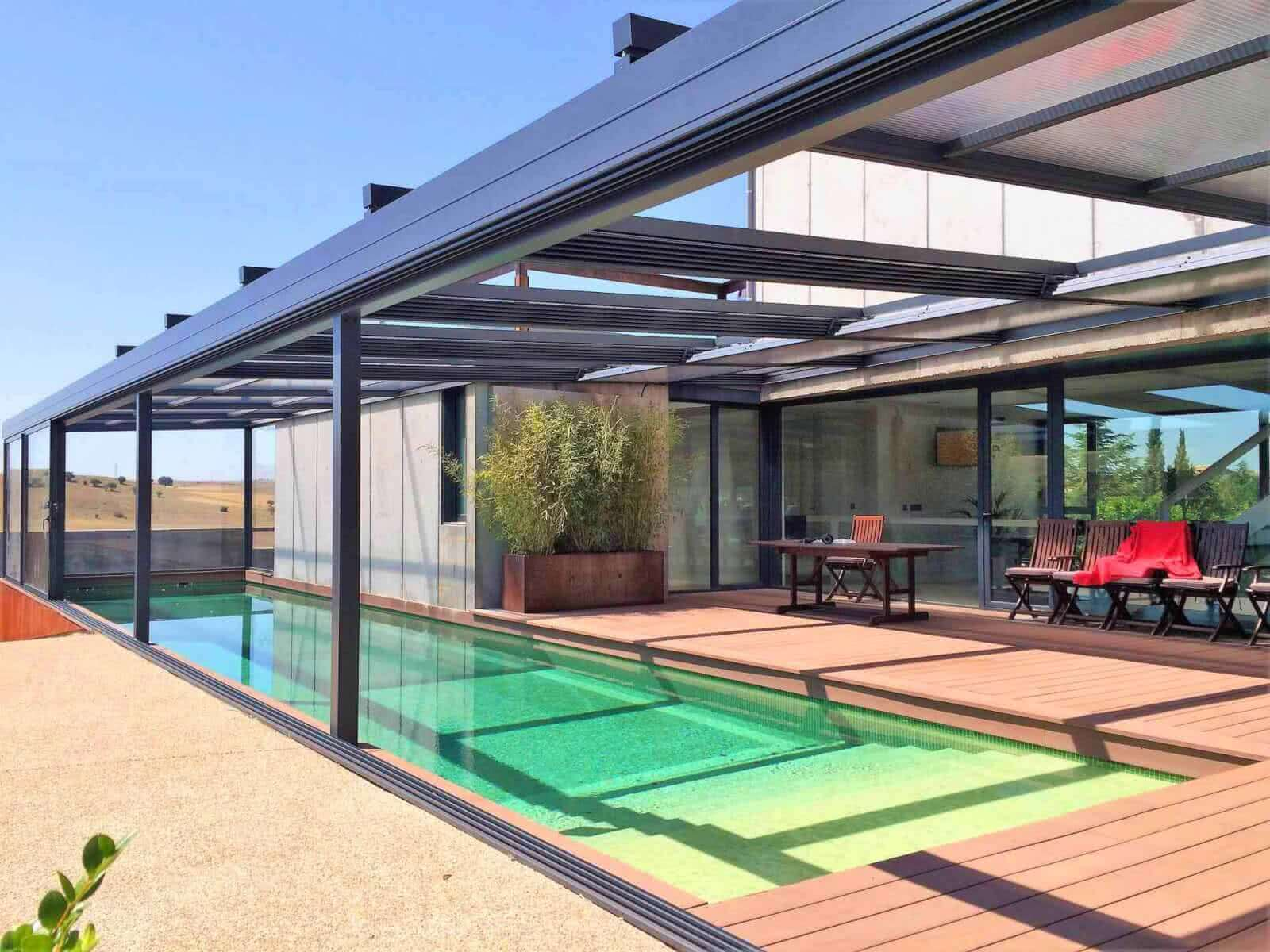 Cubiertas de piscinas personalizadas tecnyvan for Cubiertas para piscinas