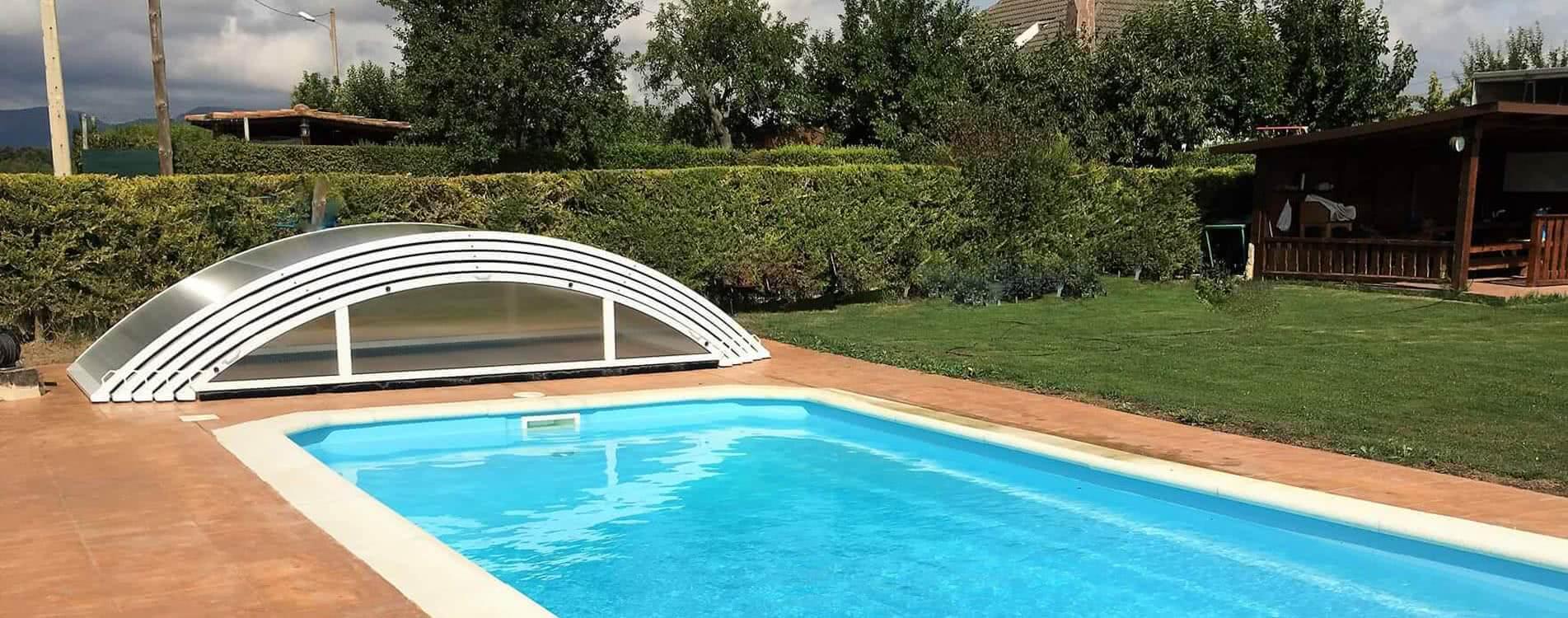 Teide cubiertas bajas para piscinas tecnyvan for Fabricantes piscinas