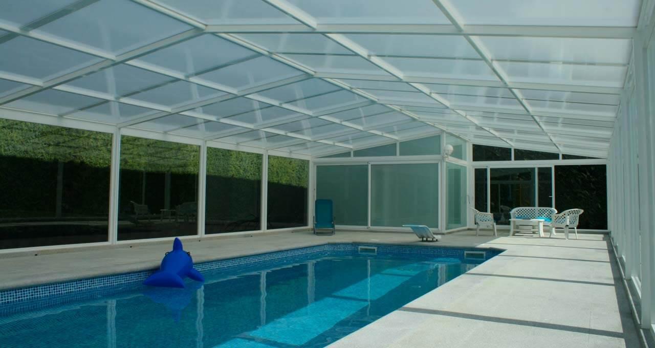 Cubiertas fijas para piscinas modelo vulcano tecnyvan Cubierta piscina precio
