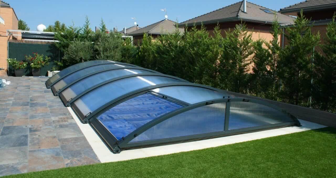 cubierta baja para piscina
