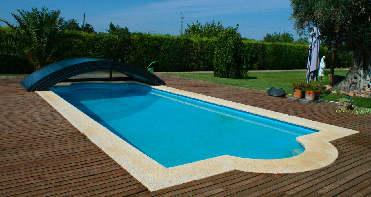 Teide cubiertas bajas para piscinas tecnyvan for Piscinas fabricantes