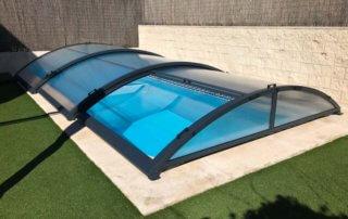 Cubierta de piscina baja Rivas (Madrid)