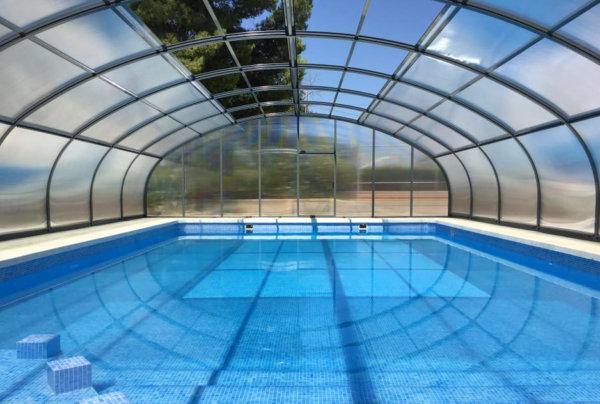 tipos de cubiertas para piscinas