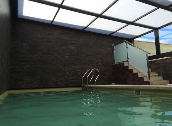 Cubierta de piscina en Asturias