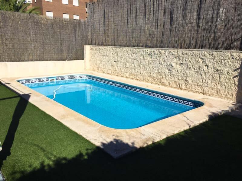 Instalación de cubierta piscina baja Rivas Madrid