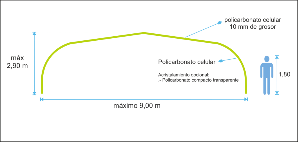 Cubierta fija para Piscinas - Modelo Etna 2.0