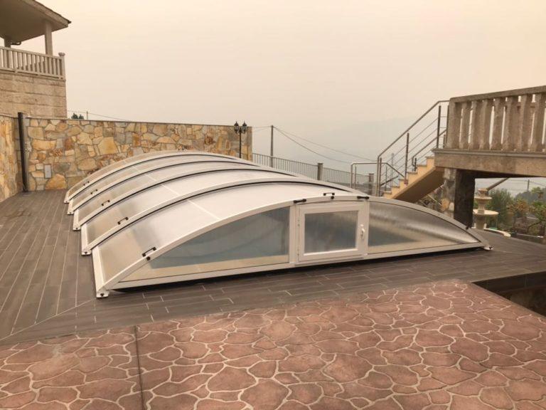 Cubierta baja para piscina en Ourense