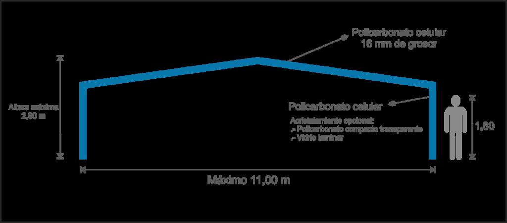 Infografía Cubierta Fija para Piscinas Etna
