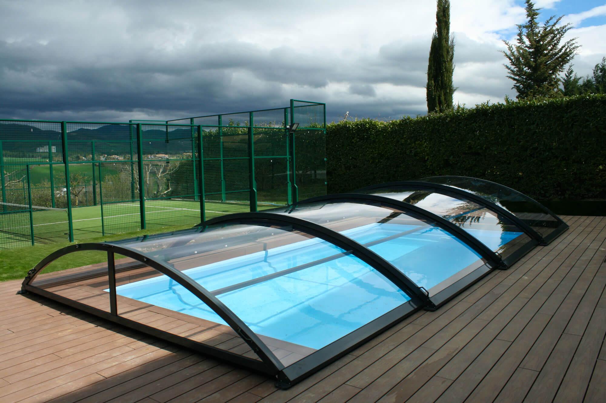 Cubiertas bajas para piscinas cubiertas de piscina tecnyvan - Piscinas cubiertas alcobendas ...
