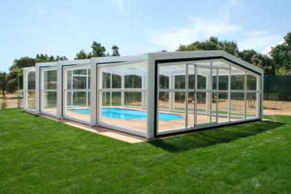 Cubierta Izalco: Cubierta de piscina alta y telescópica en Segovia exterior