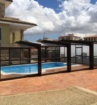 Cubierta Izalco: Cubierta para piscina alta y telescópica en Salamanca exterior cerrada