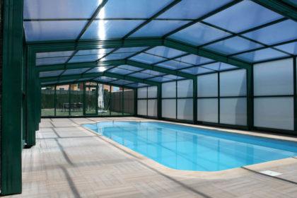 Cubierta Izalco: Cubiertas para piscina alta y telescópica en Asturias interior