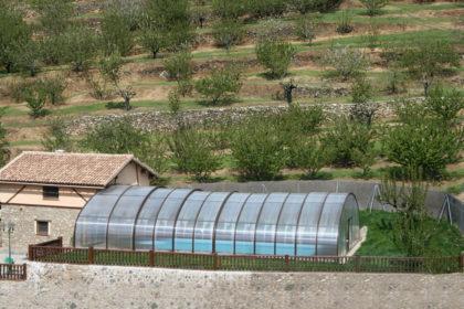 Cubierta Milos: Cubierta para piscina alta y telescópica en Cáceres cerrada