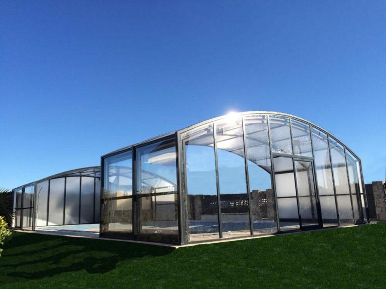 Cubierta Olimpo: Cubierta de piscina alta y telescópica en León