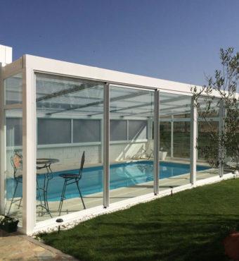 Cubierta Personalizada: Cerramiento para piscinas alta y telescópica en Zamora exterior lateral