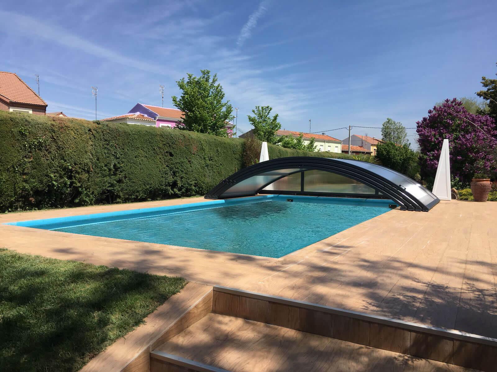 Cubierta Teide: Cerramiento telescópico y bajo para piscina en Logroño