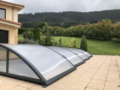Cubierta Teide: Cerramientos de piscina baja y telescópica en Asturias - Gijón exterior
