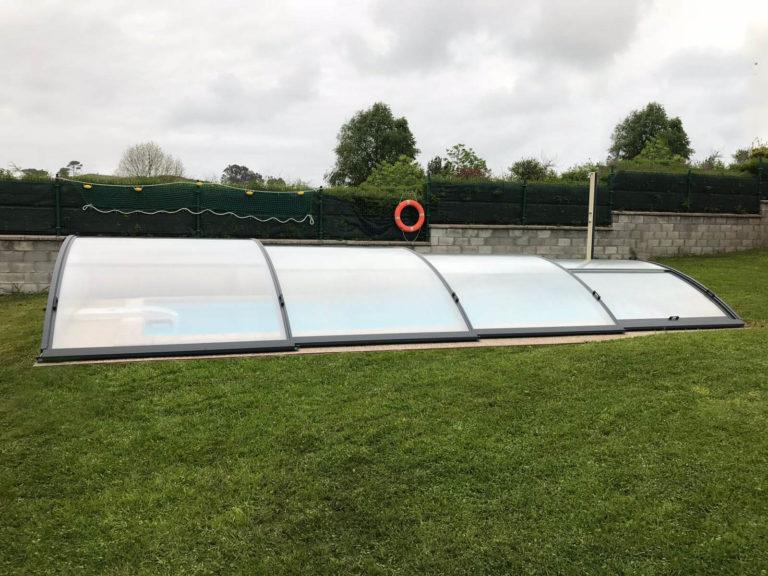 Cubierta Teide: Cerramientos de piscinas baja y telescópica en Asturias