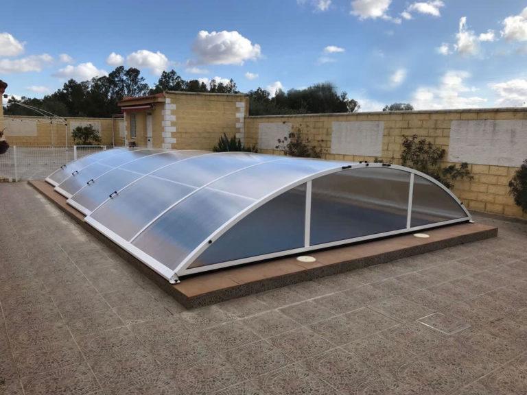 Cubierta Teide: Cubierta baja y telescópica para piscina en Sevilla