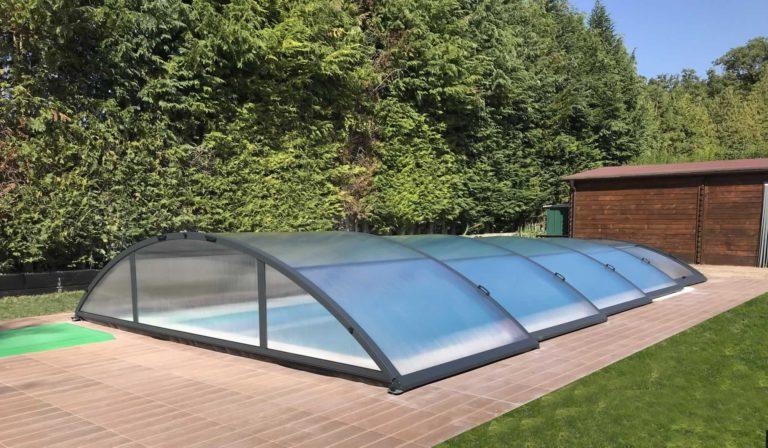 Cubierta Teide: Cubierta para piscina baja y telescópica en Vitoria exterior