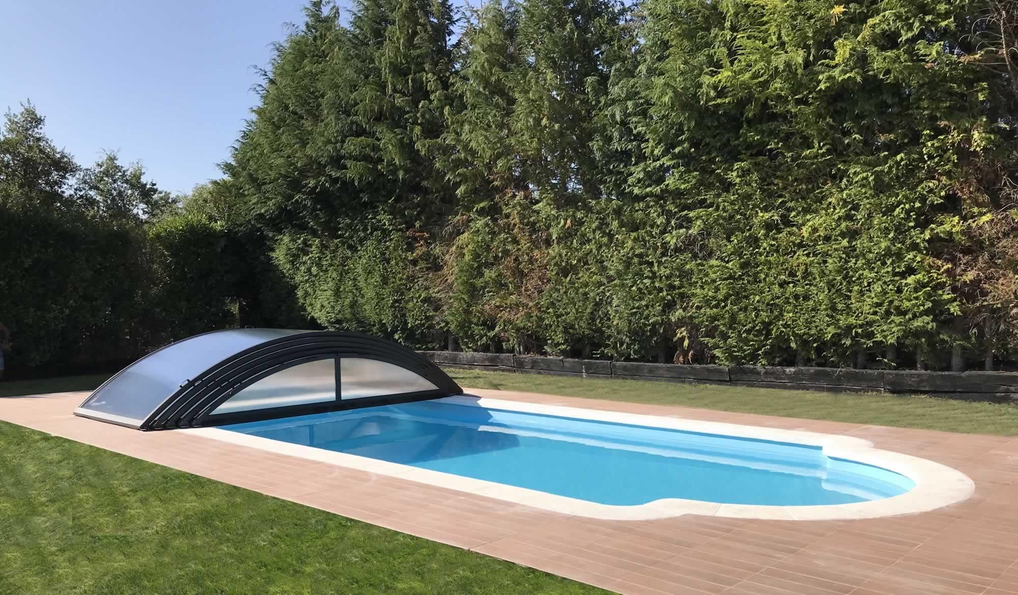 Cubierta Teide: Cubierta para piscina baja y telescópica en Vitoria
