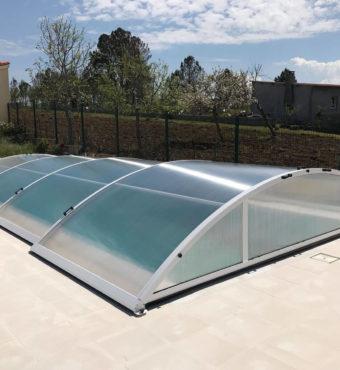 Cubierta Teide: Cubierta telescópica y baja para piscina en Portugal