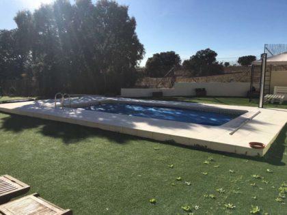 Cubierta Teide: Cubiertas de policarbonato para piscina baja y telescópica en Madrid sierra antes