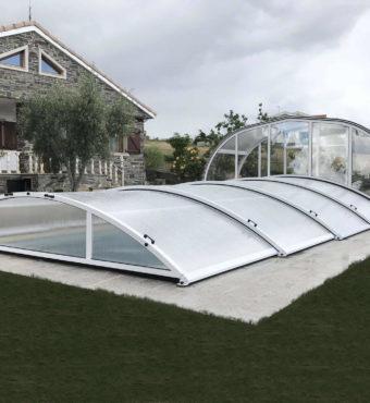 Cubierta Teide + Etna: Cerramiento para piscina baja y telescópica en Zamora