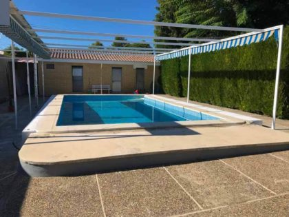 Instalación de cubierta baja de piscina en Sevilla