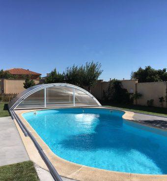 Cerramiento Teide Plus para piscina en Zamora abierta