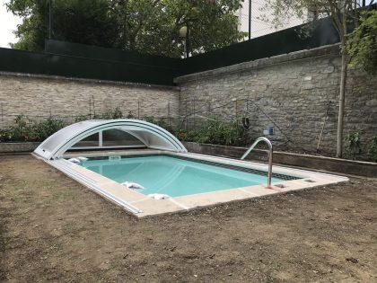 Cubierta Teide para piscina en Vitoria Abierta
