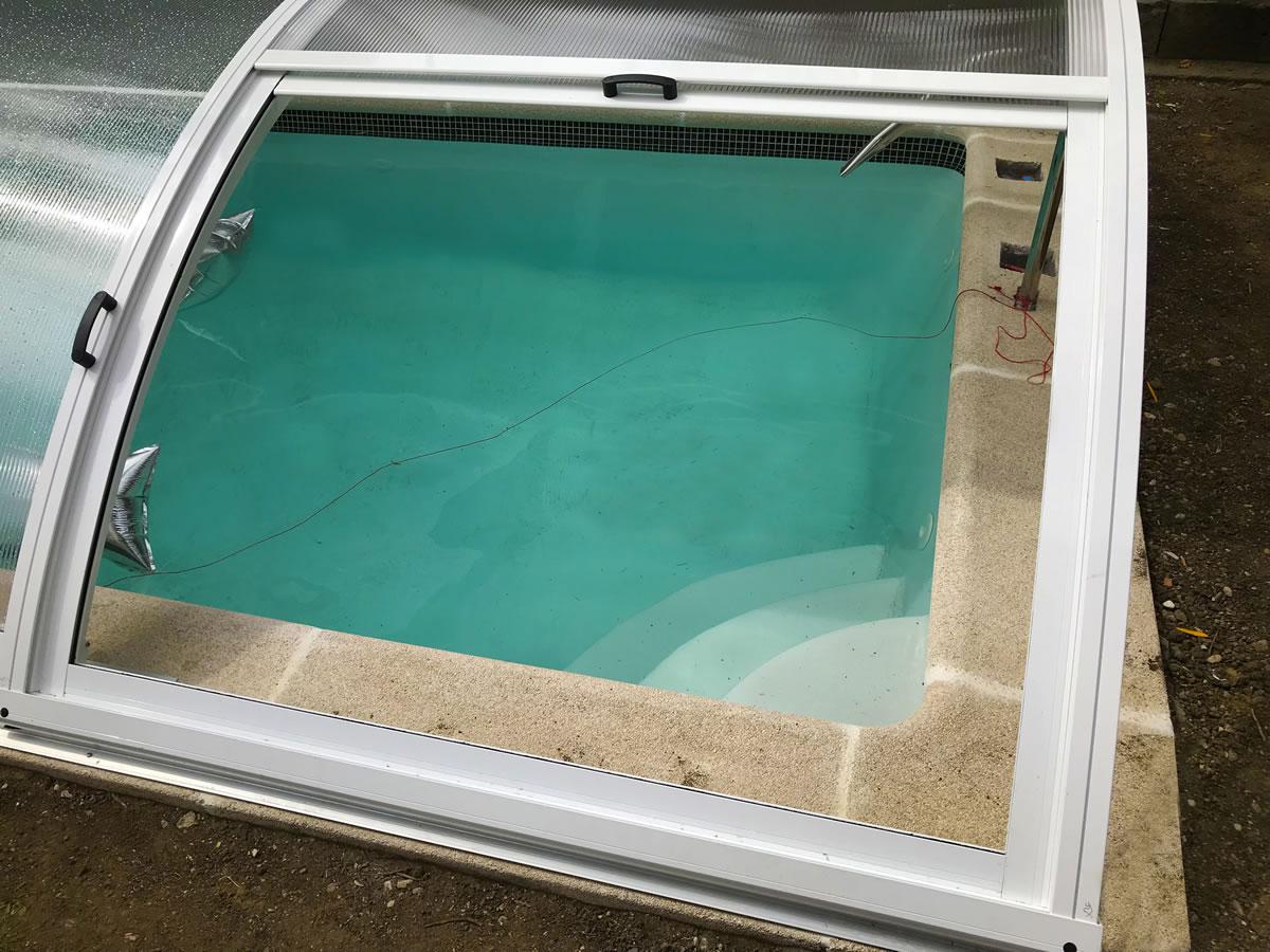 Cubierta Teide para piscina en Vitoria Interior