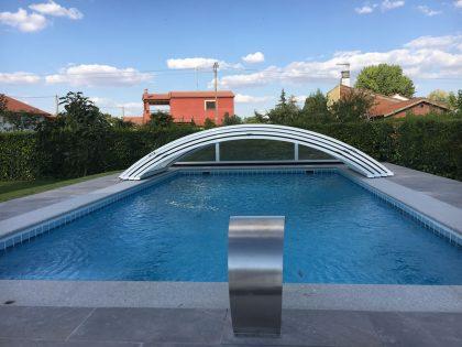 Cubierta de piscina bajo y telescópico en Salamanca