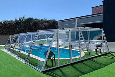 Cubiertas para piscinas Semialtas