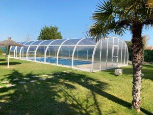 cubierta alta para piscina