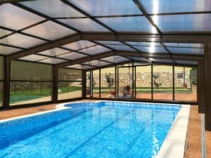 cubierta telescopica para piscina